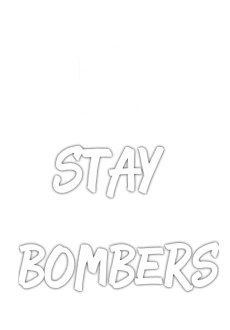maglietta keep calm and stay bombers