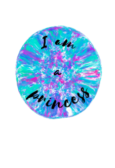 maglietta i am a princess t-shirt bambina
