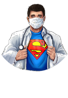 maglietta super nurse-man