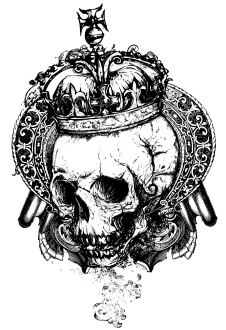 maglietta Skull with Crown