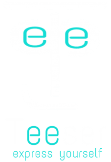maglietta logo teeser 'express yourself'