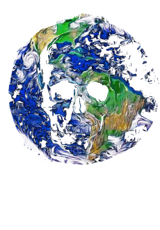 maglietta skull world