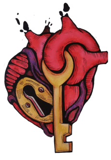 maglietta key of the heart