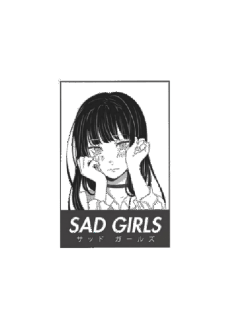maglietta T-SHIRT SAD GIRL - GIRL