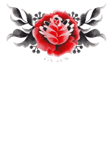 maglietta red rose