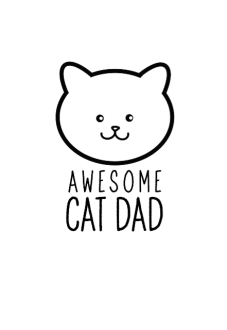 maglietta cat dad