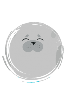 maglietta Seal cute round animal