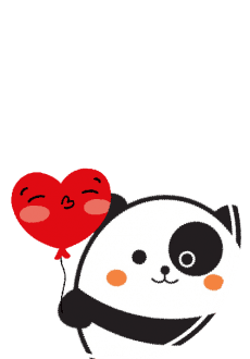 maglietta Panda love cute animal