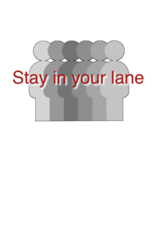 "maglietta ""Stay in your lane"""