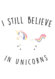 maglietta I still believe in Unicorns
