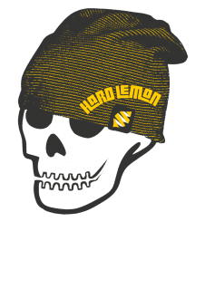 maglietta HARD LEMON OLD CHIC SKULL TWO