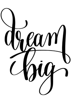 maglietta Dream Big T-shirt