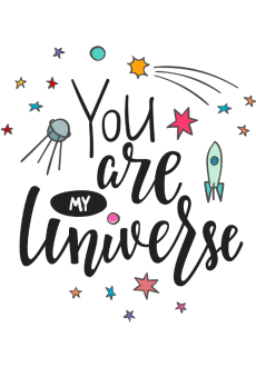 maglietta You are my Universe crop top