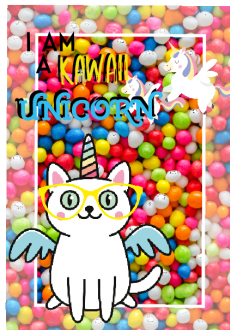 maglietta Cat unicorn