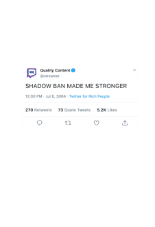maglietta SHADOW BAN MADE ME STRONGER