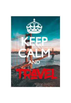 maglietta Keep calm and travel