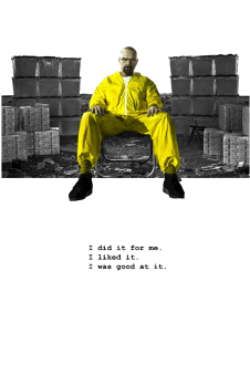 maglietta Breaking bad - I did it for me