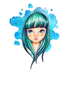 maglietta Blue hair