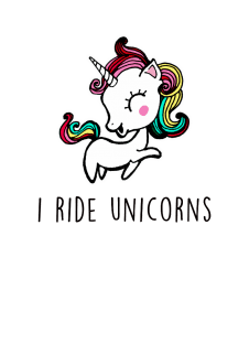 maglietta Ride Unicorns