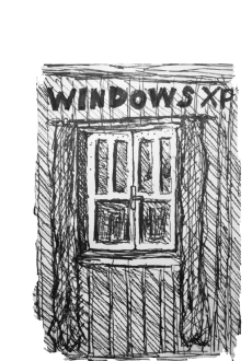 maglietta windows xp, illustrazione di M.L.L.