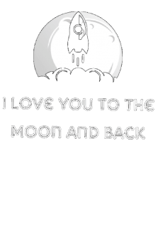 maglietta I love you to the moon and back black