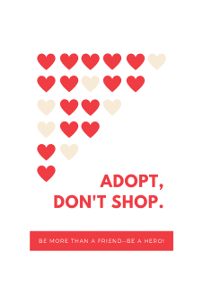 maglietta Adopt, don't shop