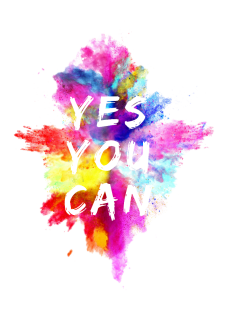 maglietta Yes you can - frasi celebri
