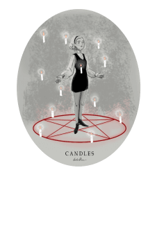 maglietta Candles - circle version