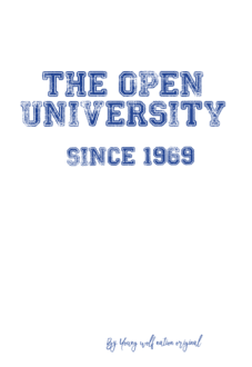 maglietta Open University student shirt