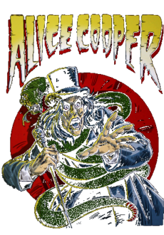 maglietta Alice Cooper comic book