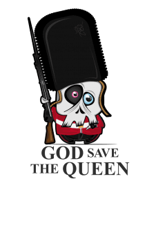 maglietta 'god save the queen'