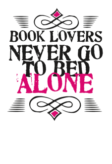 maglietta Book Lovers Never Go To Bed Alone