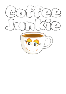 maglietta Funny Coffee Junkie t shirt for all lovers of coffee