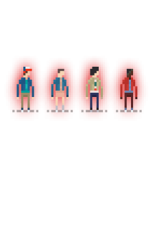 maglietta Stranger Things Pixel Art
