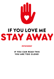 maglietta STAY AWAY SERIES