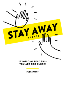 maglietta STAY AWAY SERIES - Design 2